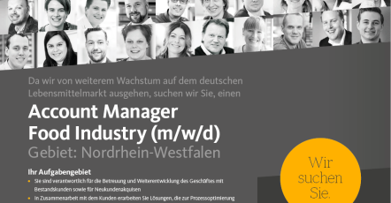 Account Manager Food Industry (m/w/d)