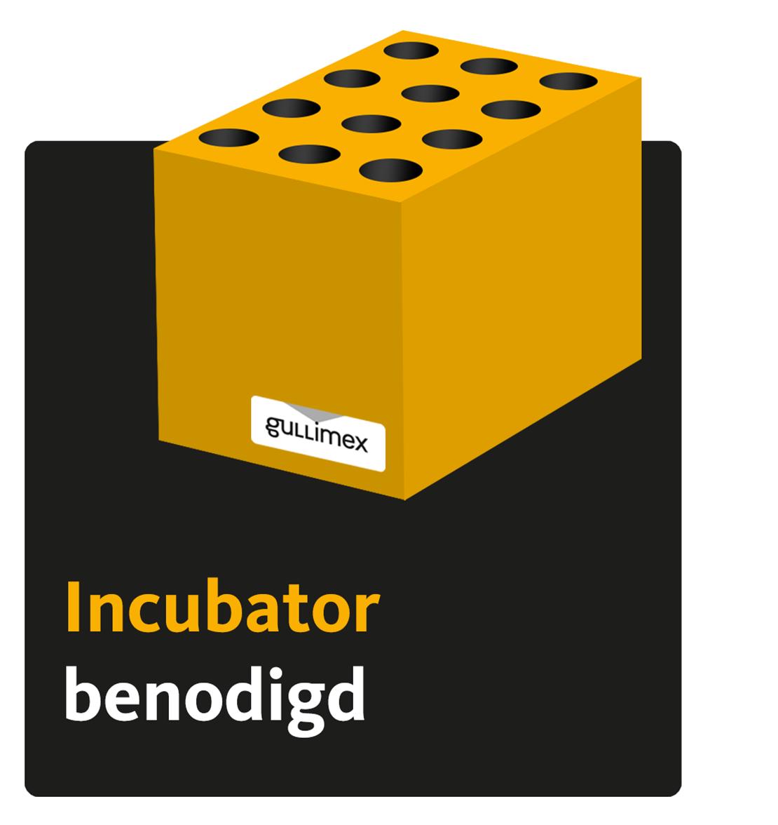Incubator benodigd